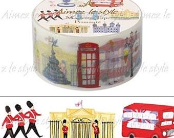 Downtown London Washi Tape • Downtown London Japanese Washi Tape • London Washi Tape • British Icons Washi Tape • Aimez le style (04901)