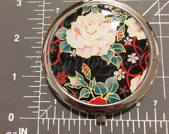 Rose washi paper compact mirror