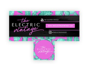 Facebook Banner Design | Custom Facebook Page Banner | Facebook Cover Design | Colorful Branding Kit | Teal Purple Branding Package