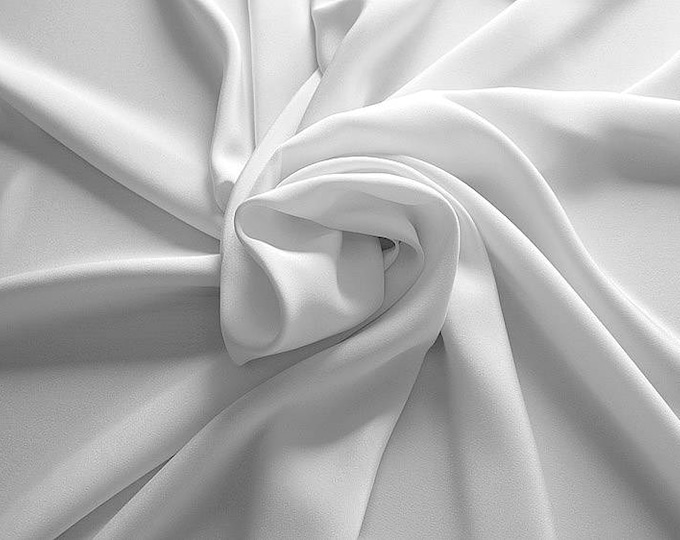 305002-Crepe marocaine Natural Silk 100%, width 130/140 cm, made in Italy, dry cleaning, weight 215 gr