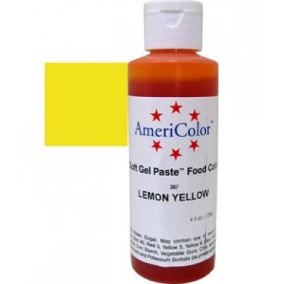 Lemon Yellow Americolor Food Coloring Gel Paste/ Yellow Food