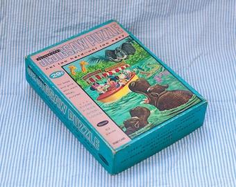 Vintage Walt Disney's Adventureland Jigsaw Puzzle Mickey Mouse, 63 pieces, retro, Whitman 60's