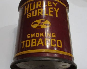 Antique P. Lorillard Co. Hurley Burley Smoking Tobacco Tin