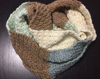 Chocolate mint infinity scarf