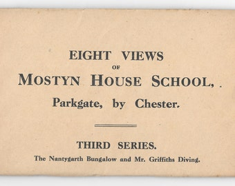 Unused 1930's pack of postcards from a Northwest school, Mostyn House