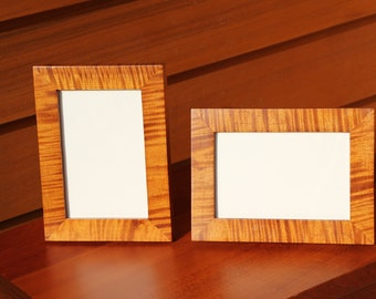 """Two Tiger/Curly Maple picture frames 4"""" x 6"""""""