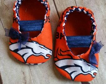 Denver Broncos MaryJane Baby Booties