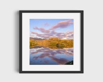 Sunset over Loch Drumbeg Scotland Fine Art Photography Wall Art Poster