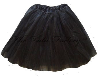 BLACK Tutu . Girls to Adult Plus Size Tutu . Adult Tutu . Ballet Tutu . Dance Skirt . LONG Length up to 16in by The Tutu Factory USA ™