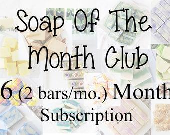 6 month (2 bars/mon.) Soap Club subscription