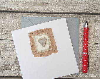 Handmade greetings card, ceramic gift card.  Blank for all occasions, birthday, wedding, Mother's Day, Father's Day,