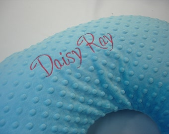 Embroidery Add-On Option - Personalize Your Changing Pad or Nursing Pillow - Daisy Font
