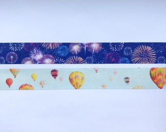 "Fireworks or Hot Air Balloons Washi Tape 24"" Sample - MASTÉ Japanese Washi Tape"