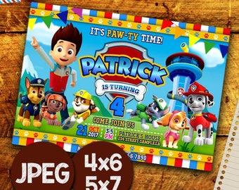 Paw Patrol Invitation, Paw Patrol Birthday Invitation, Paw Patrol Invitation Instant Download, Paw Patrol Invitation Boy, Printable