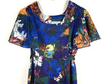 Painterly Flowers Maxi Dress