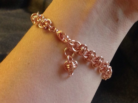 Barrel weave bracelet in Copper
