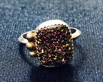 Druzy Bead Ring
