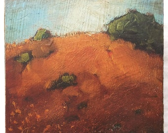 "Tiny Landscape No.3 Reproduction   4""x4"" cradled panel"