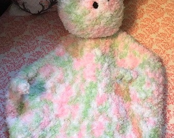 Crocheted Bunny Security Blanket