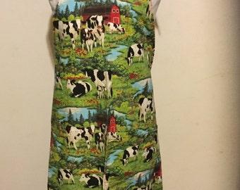 Farm print apron