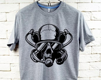 SCUBA DIVER UNDERWATER Gray T-Shirt For Men
