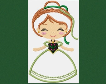 Anna embroidery design frozen embroidery machine embroidery designs disney princess applique design embroidery file girl embroidery pes jef