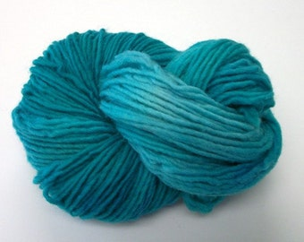 Hand dyed wool yarn worsted weight 190 yds.