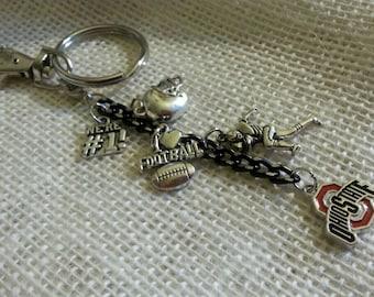 Ohio State Football Keychain