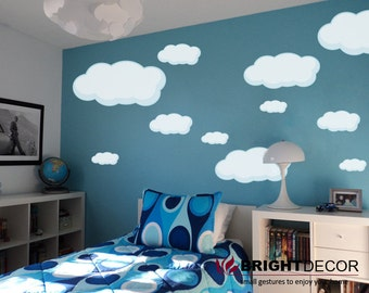 clouds stickers for walls, Clouds vinyl sticker, wall decal, nursery stickers, kids vinyl, kids room wall decor