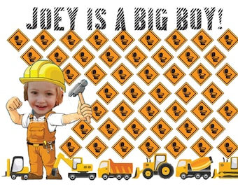 Personalized Construction Toilet Training Chart