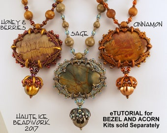 eTUTORIAL for Caramel's Claws Necklace WITH ACORN for Advanced Beaders