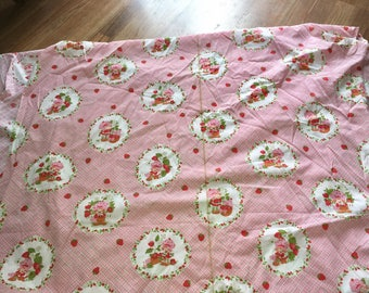 Sale!! Huge! 21 feet x 3.5 feet Vintage Strawberry Shortcake material fabric