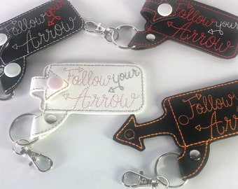 Key chain/ Key fob  chap stick holder