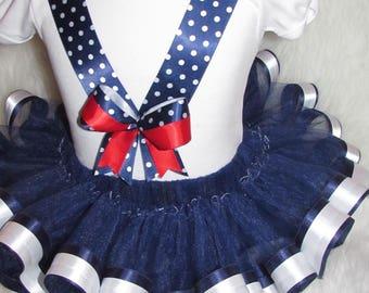 Girls sailor tutu set