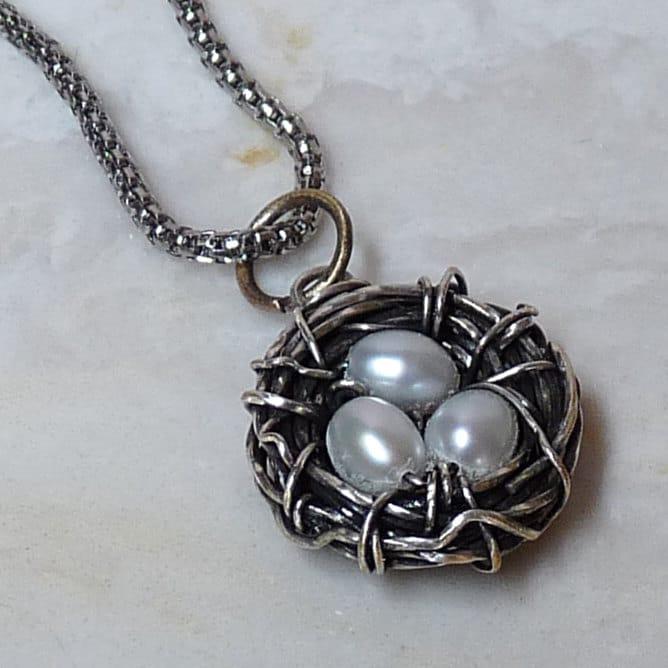 Jewelry making tutorial birds nest wire wrapped pendant zoom aloadofball Choice Image