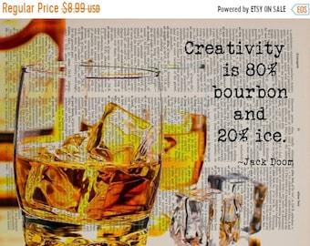 SALE--ships May 29-- Bourbon Art Whiskey Dictionary Art Print Whiskey Poster Decor Scotch Frank Doom Quote Bar Art Gift Ideas da1454