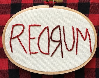 REDRUM The Shining Oval Embroidery