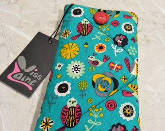 Padded phone cover, sunglass  case, cell phone cover,  iPod case,  gadget case,  phone sleeve protector