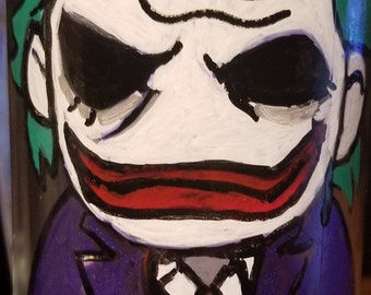 Hand Painted Joker Beer Mug