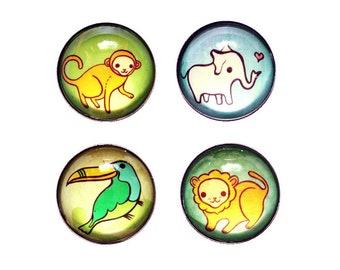 Housewarming gift - REFRIGERATOR MAGNETS - fridge magnet set, zoo animals, teacher gifts, animal magnets, housewarming magnet