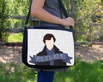 """Minimalist Sherlock Holmes 15"""" Laptop Messenger / Shoulder Bag"""