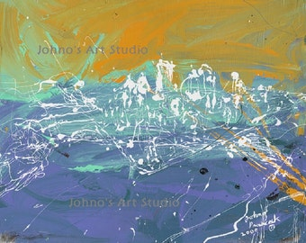 Pittsburgh Skyline Art,  Modern Pittsburgh wall art, The Point at Pittsburgh, Abstract Pittsburgh Print by Johno Prascak