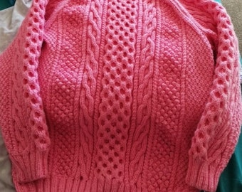Hand Knitted Adult Aran Jumper