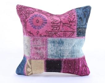 Patchwork Pillow, Modern Bohemian, Home Decor,Turkish Kilim, Pillow Cover, Tribal Pillow,Vintage Kilim Pillow, Designed pillowcases, carpet