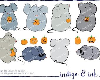 Halloween Mice Digital Download Clipart