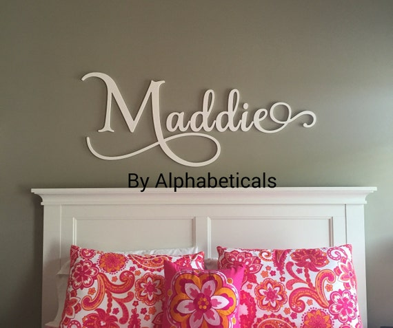 Nursery name sign girl wall letters wooden letters for nursery for Large wall letters for nursery