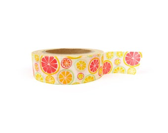 Washi tape - Citrus, lemons, oranges, stationery, stationary, LittleLeftyLou, Snail Mail, Happy mail, masking tape, 10 meter, fruit tape,