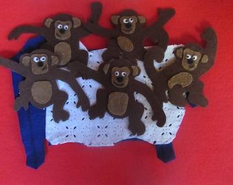 5 Cheeky Monkeys Felt Story