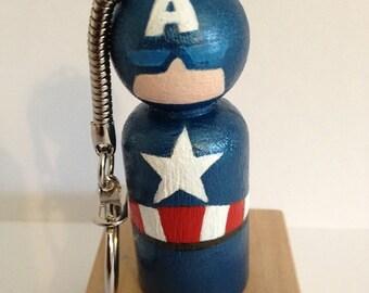 Peg Doll  Superhero Key Ring 58 mm x 21mm