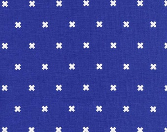 Cotton + Steel XOXO Cobalt Cotton and Steel Basics 100% Cotton Fabric